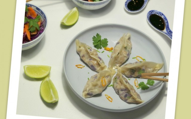 Asiatiske dumplings med svinekød