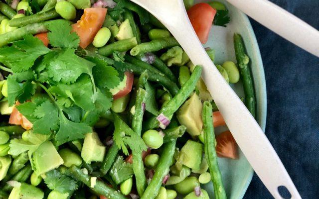 Bønnesalat med avokado