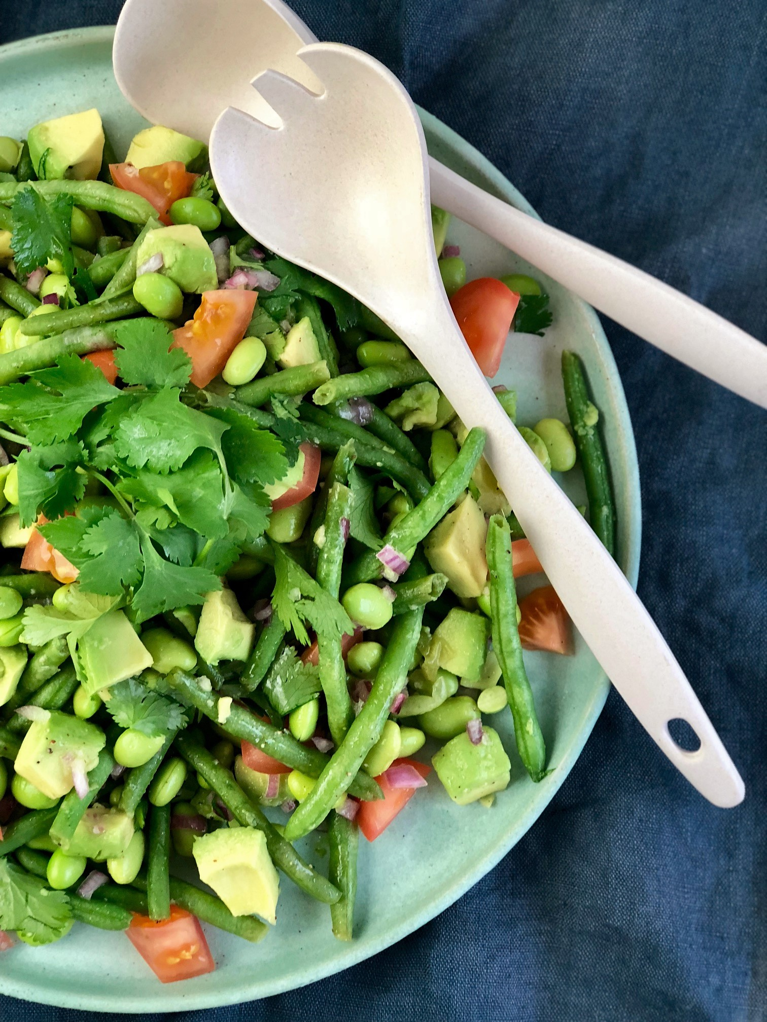 edamame bønnesalat med avocado