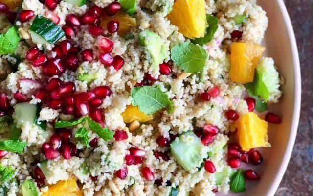 Marokansk couscous salat med myntedressing