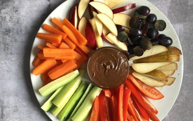 Chokoladesmør med grønt/frugt