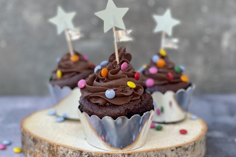 Børne cupcakes med chokoladeknapper
